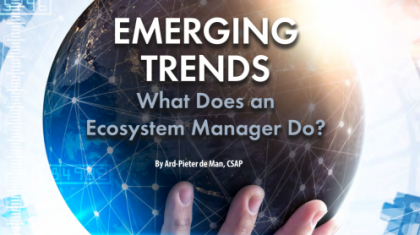 What does an ecosystem manager do?