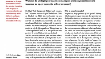 De implementatie van open innovatie